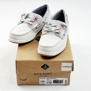 Sperry Girl's Size 2 M Songfish Saffiano L…